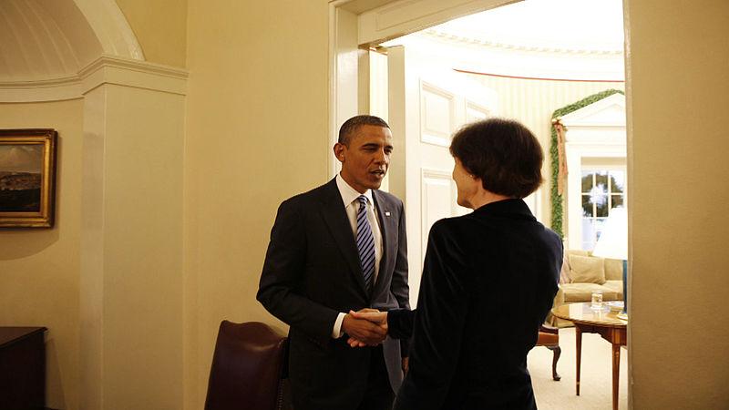 Renee Jones op bezoek bij Barack Obama