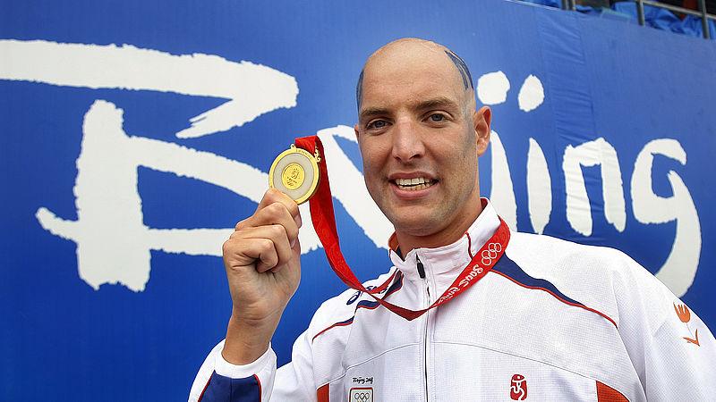Maarten van der Weijden met zijn gouden plak in 2008