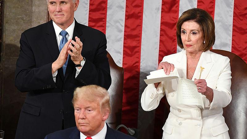 Democraat Nancy Pelosi verscheurde Trumps speech en 'nu zal ze vaker het vuile werk oppakken'