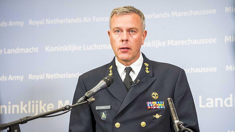 Commandant der strijdkrachten Rob Bauer