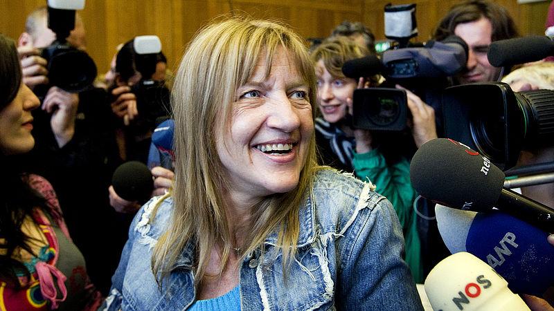 Lucia de Berk reageert blij na haar vrijspraak