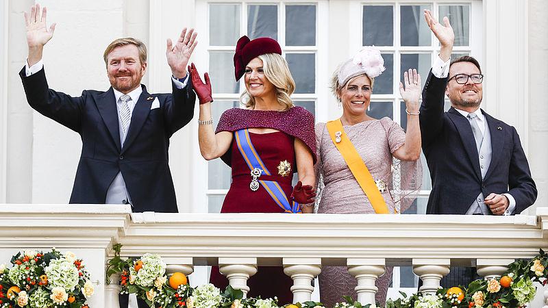 De balkonscène op Prinsjesdag in 2019