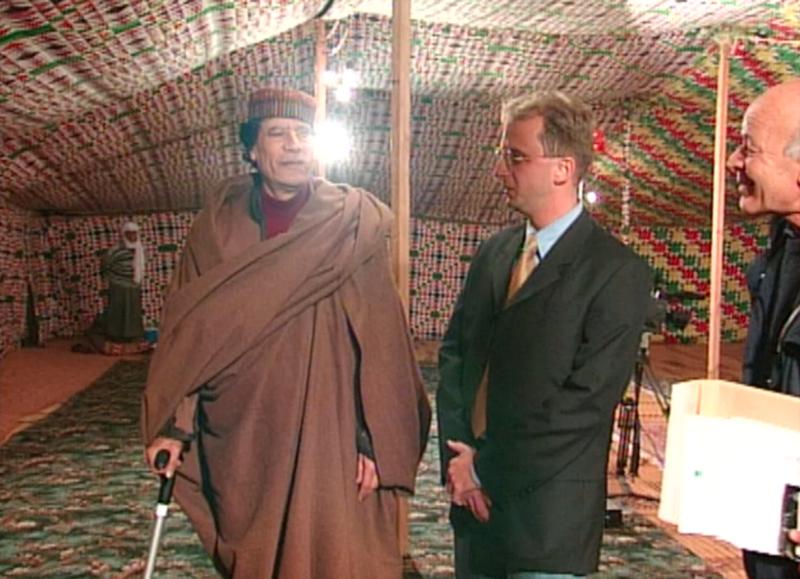 Jeroen Snel ontmoet Kadhafi
