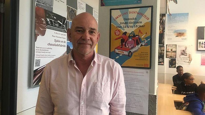 Arend Klos, docent op het Pieter Nieuwland College in Amsterdam