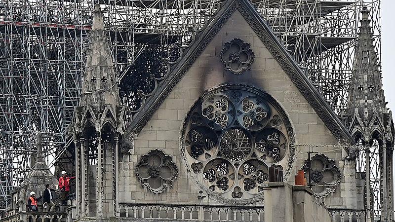 Notre-Dame na de brand