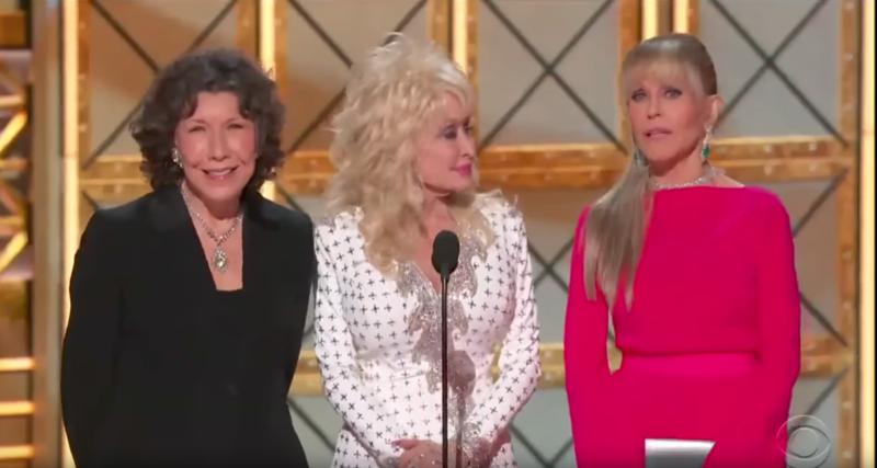 Dolly Parton, Lily Tomlin en Jane Fonda versus Trump