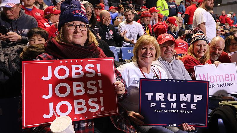 Aanhangers van Trump in afwachting op zijn komst