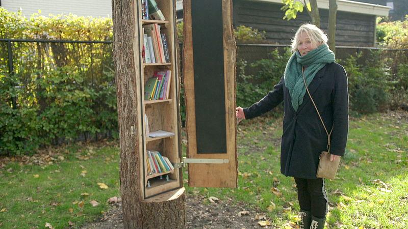 Regina Berends van Altijdwerkplaats bij de boombieb