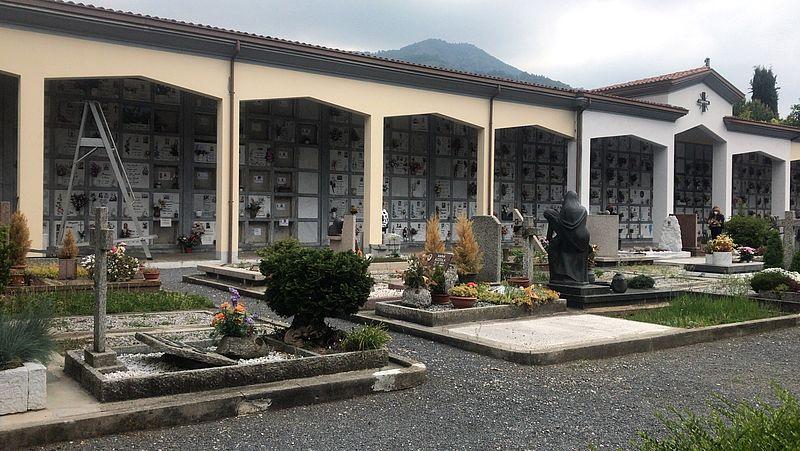 De begraafplaats bij Bergamo