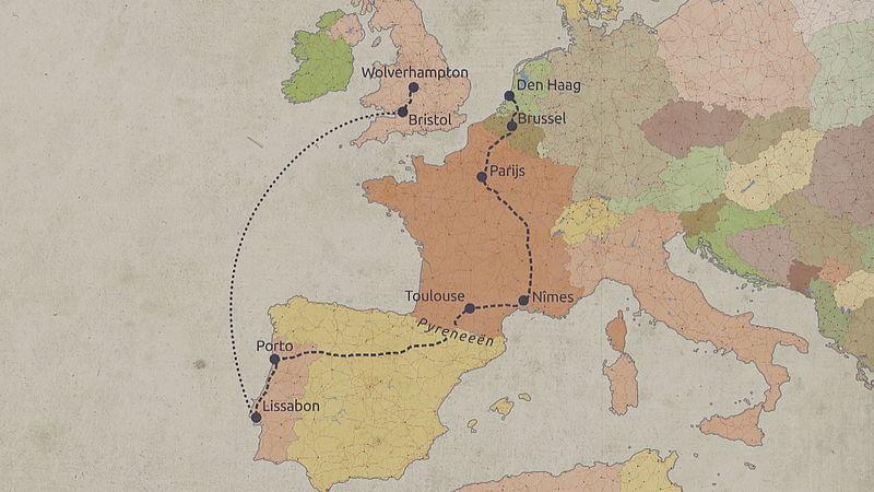 Route die Rudi Hemmes aflegde