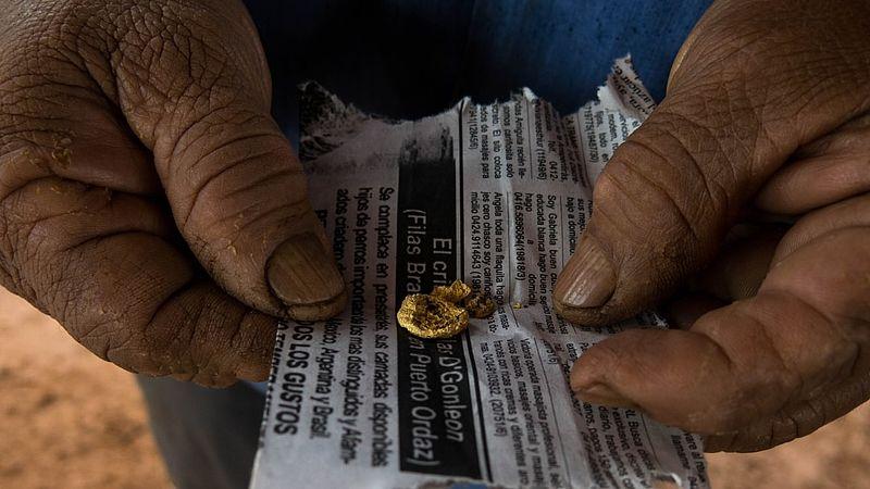 illegale goudmijn in Venezuala