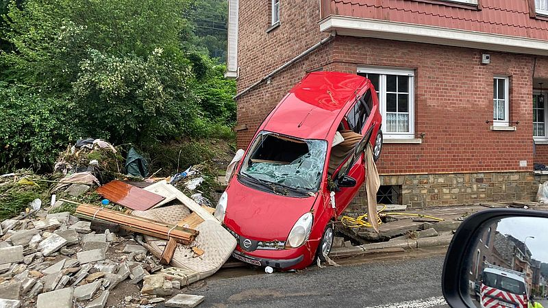 Verwoesting in de omgeving Luik