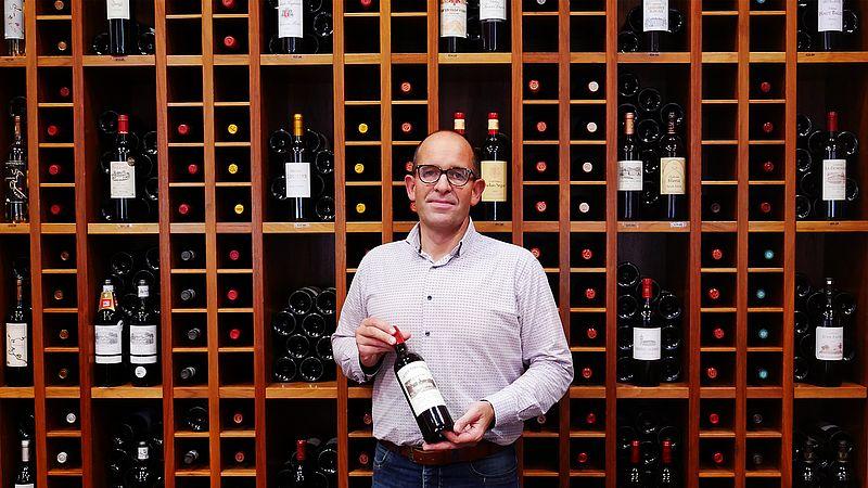Bedrijfsleider Gerry Habets van Thiessen Wijnhandel