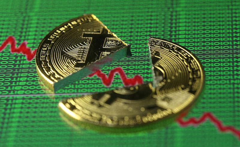 Koers bitcoin hard omlaag