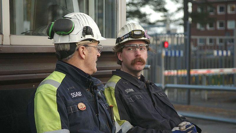 Twee werknemers van SSAB