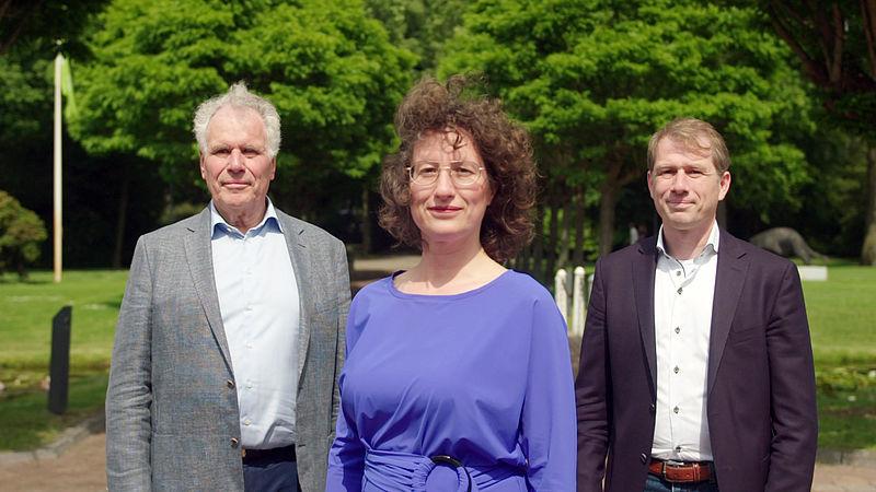 Aukje Kuijpers met haar vader Wim en broer Bas.