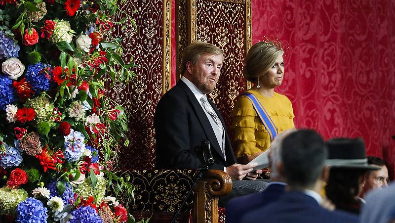 Koning Willem-Alexander tijdens het voorlezen van de troonrede