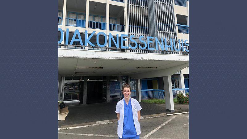 Sacha voor het ziekenhuis
