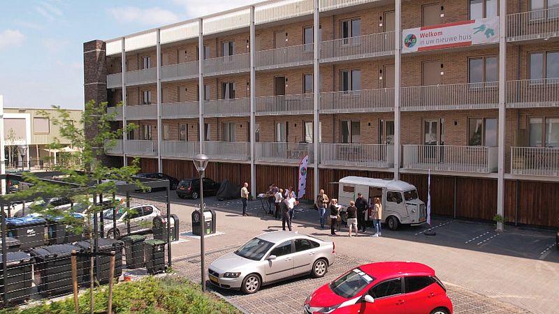 Het nieuwe appartementencomplex in Nijmegen