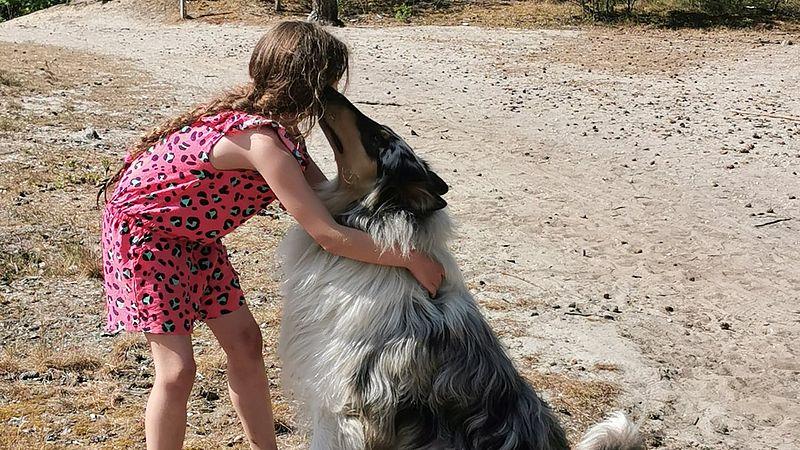 Melody en haar lievelingshond