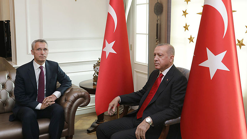 NAVO Secretaris Generaal Stoltenberg en Turkse president Erdogan