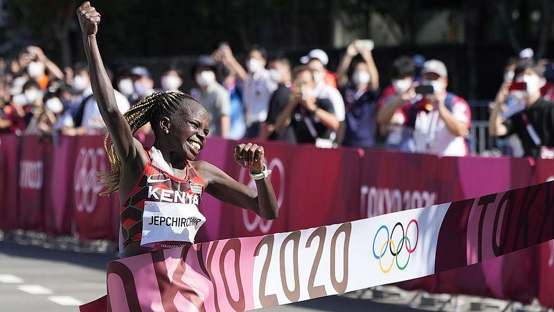 De Keniaanse Peres Jepchirchir pakte goud