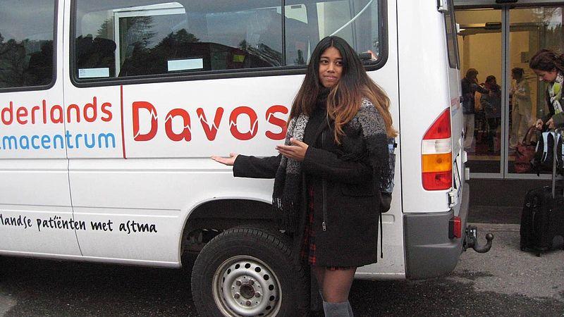 Charissa in Davos