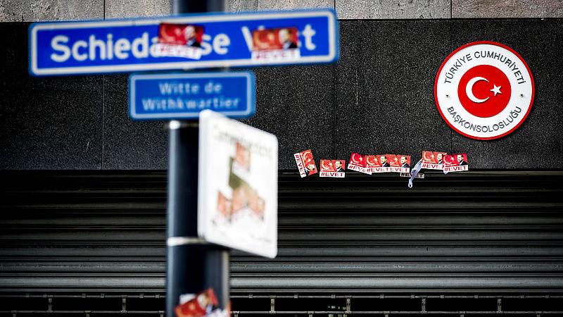 De volgende morgen, na de rellen in 2017 in Rotterdam