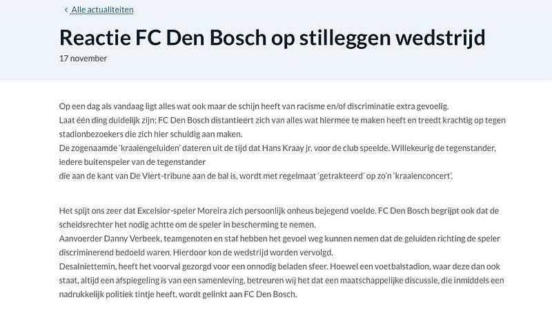 statement FC Den Bosch