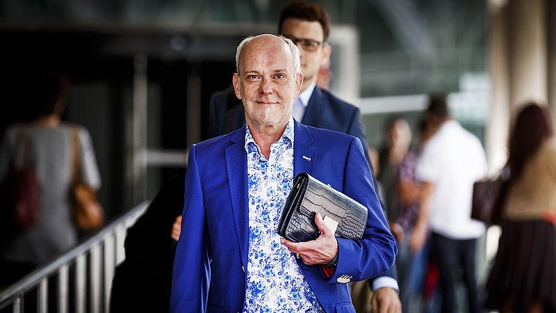 Martien Hunnik na afloop van de uitspraak in de zaak over de showbizzmoord