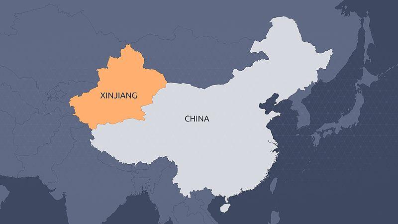kaart china Xinjang