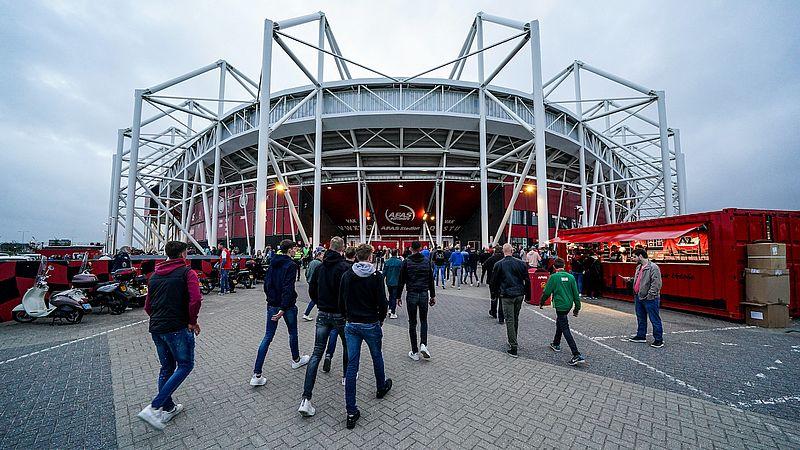 In het stadion moesten supporters al langer de coronapas laten zien