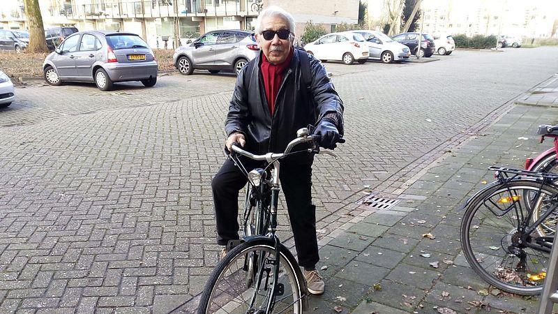 Herbert is blij met zijn nieuwe fiets