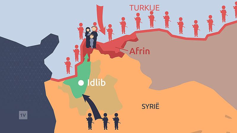 De situatie in Idlib