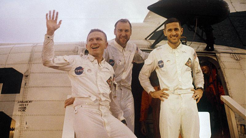 Crew Apollo 8: Frank Borman, Jim Lowell en Bill Anders