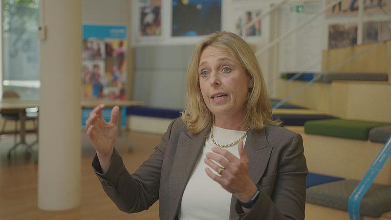 Directeur Suzanne Laszlo van Unicef