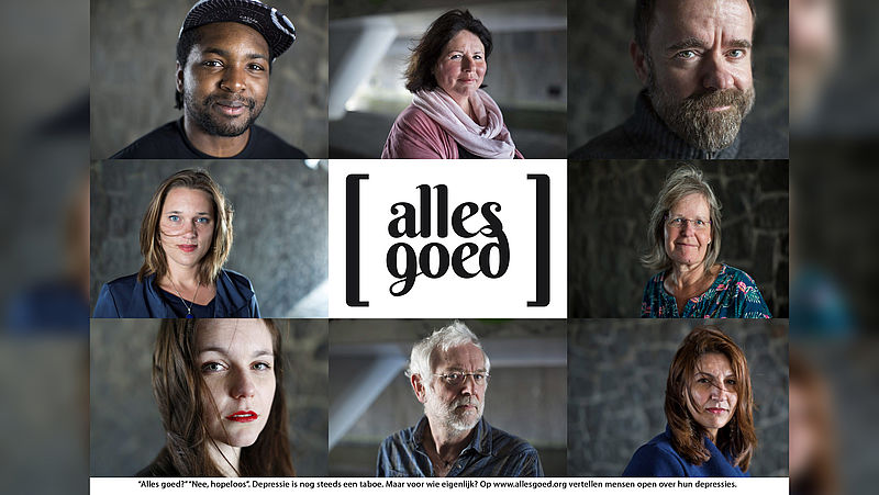 Op allesgoed.org vertellen mensen openlijk over hun ervaring met depressie