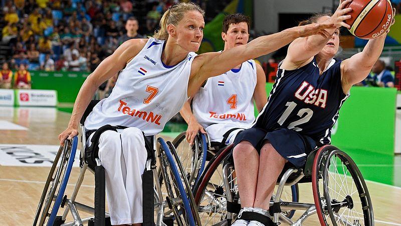 Roos in een wedstrijd op de Paralympische Spelen