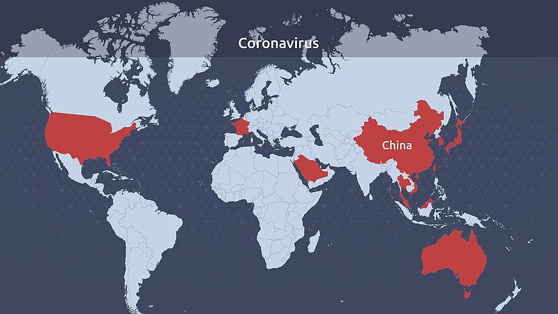 Kaart Coronavirus