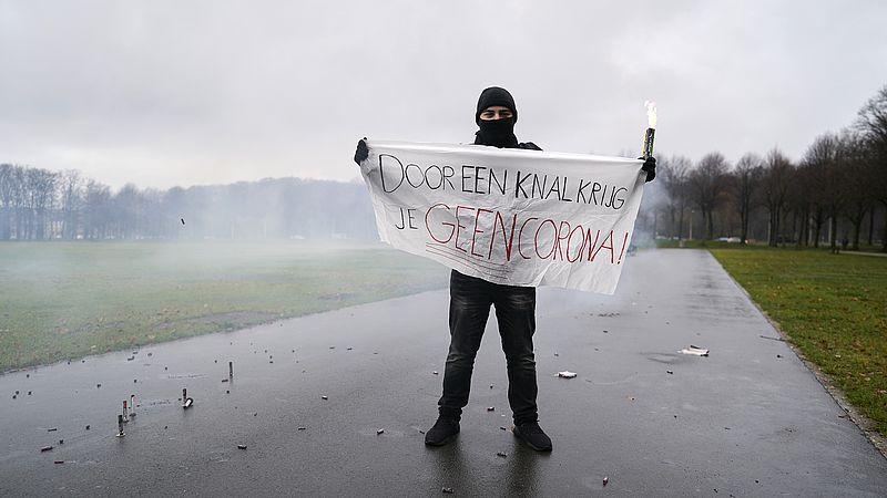 Protest tegen vuurwerkverbod