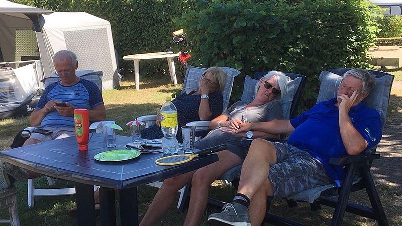 Piet Klijs op vakantie in Renesse