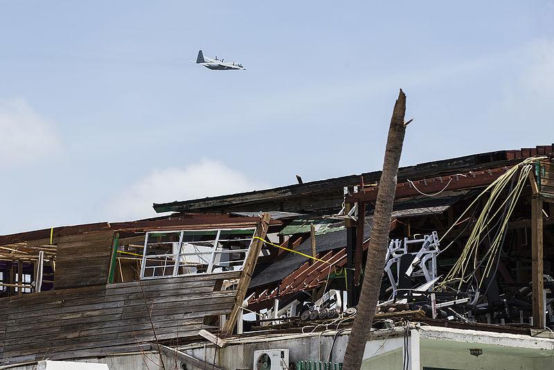 Michel Williams hielp met de wederopbouw van Sint Maarten