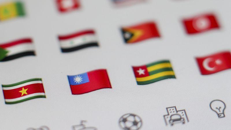 Hier is de Taiwanese vlag nog wel te zien