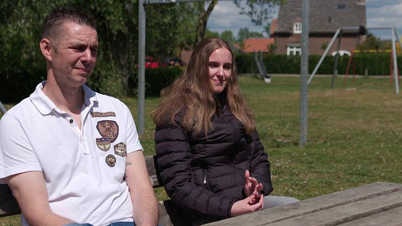 Marcel en zijn dochter Isa
