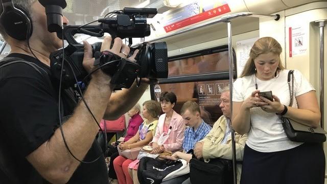 Renee Jones in de Moskouse metro