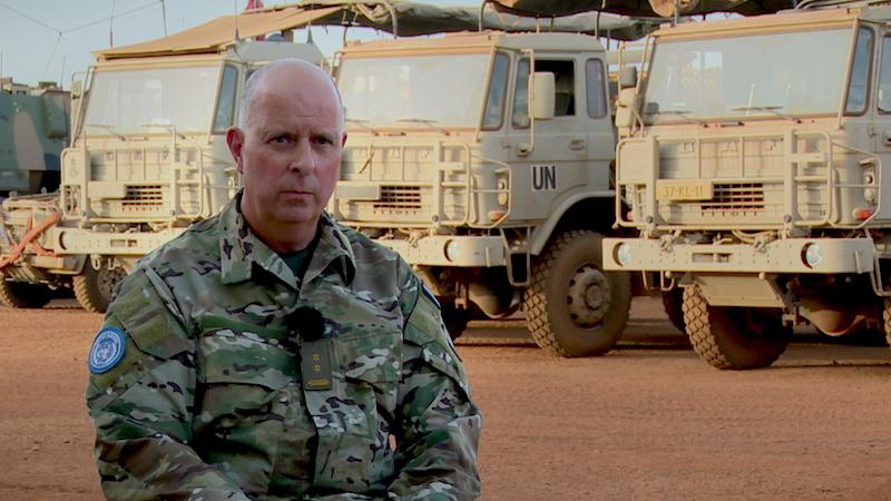 René Le Noble, commandant Nederlandse troepen in Mali.