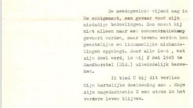 Brief koningin Wilhelmina aan Wouter IJssel de Schepper