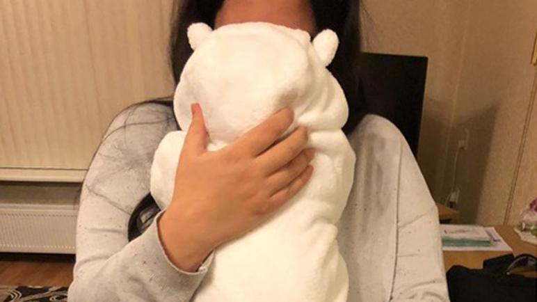 Rojda met haar baby