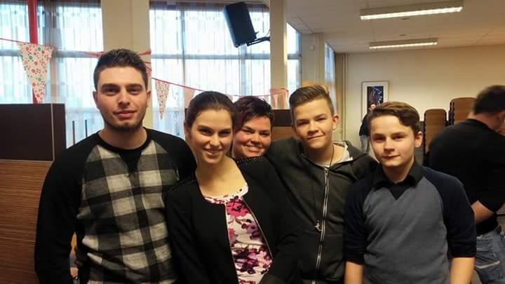 Janneke Schoonhoven en haar kinderen