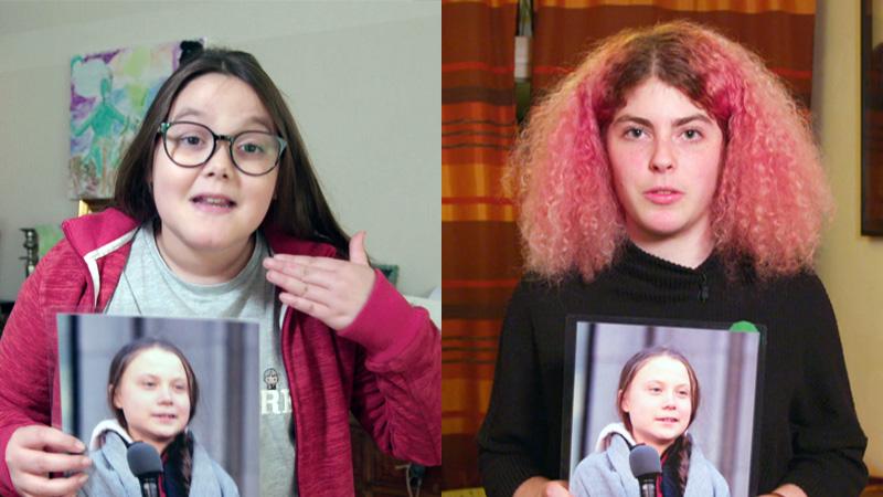 Greta Thunberg inspireert ook Nederlandse jongeren: Lilly (11) en Dana (17) staken voor het klimaat